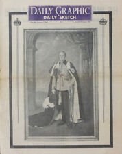 DAILY GRAPHIC & DAILY SKETCH NEWSPAPER 7 FEB 1952 KING GEORGE VI DEATH . ROYALS