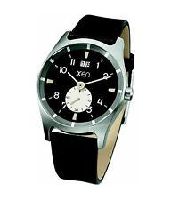 XEN Schmuck XQ0211 Herren Uhr Quarzwerk Edelstahl und Leder (3)