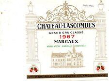 MARGAUX 2E GCC ETIQUETTE CHATEAU LASCOMBES 1967 75 CL §04/07/18§