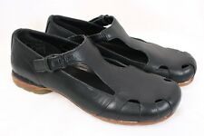DOC DR MARTENS Black Leather Mary Jane T-Strap Sandal Shoes Flats Women US 6
