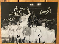 Tottenham Hotspur 1972 UEFA Cup Signed 16x12 Photo x6. PROOF See Them Signing.