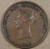 Canada New Brunswick 1843 Half Penny Token as Pictured
