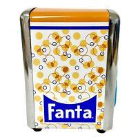 Vintage Fanta Napkin Holder Dispenser Metal Chrome Spring Action