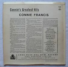 Connie Francis, 'Connie's Greatest Hits', LP / Mono, 1960 UK (MGM-C 831)