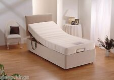 3ft Single Electric Adjustable Bed With Memory Foam Mattress No Headboard