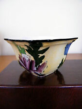 An attractive vintage hand painted Staffordshire bowl c 1930's