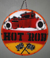 Metal RAT ROD Sign Gas Oil Garage Man Cave Home Decor Recycled  HOT ROD Ford