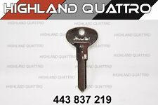 Audi ur quattro coupe secondary key blank 443837219