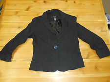 89TH & Madison Women's Black Pin-Striped Blazer