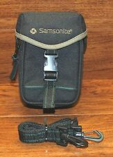 "Genuine Samsonite 4 1/2 X 7"" Small Black Camera Pouch / Bag With Strap **READ**"