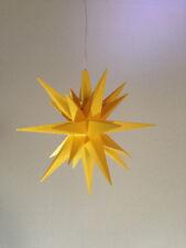 Herrnhuter Stern A1e Gelb ca13cm mit Zuleitung + Leuchtmittel, Dekostern