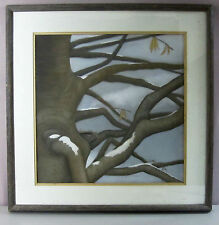 "NANCY BRANGACCIO__Noted NJ Artist__'NEST' 18""X18"" Pastel__Signed__ExC_SHIPS FREE"