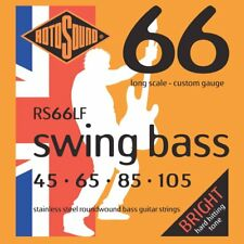 Rotosound Rs66Lf Roundwound Stainless Steel Bass Guitar Strings 45 65 85 105
