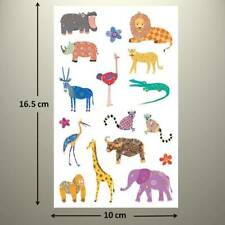 ZEBRA NRN DESIGNS VELLUM STICKERS 5X12 IN SHEET PRINT ZOO SAFARI
