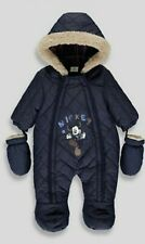 Disney Mickey Mouse Navy Newborn Boy Snowsuit Winter Birthday BNWT Christmas