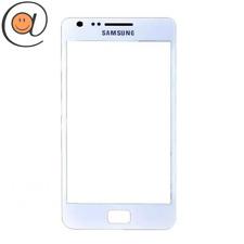 Avant vitre écran tactile Samsung Galaxy S2 Blanc + Adhésif