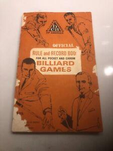 Vintage 1967 Booklet Official Rule Book Billiard Games BCA