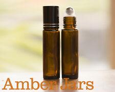 BULK 144 x 10ml Amber Glass Roller Ball Bottles Roll on Aromatherapy- Do Terra