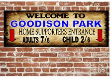 Goodison Park Everton Estilo Antiguo Letrero Metal fútbol vintage Letrero