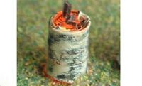 Illuminated/Working Kit Wood Burning Oil Drum - OO - Unpainted - Langley F220
