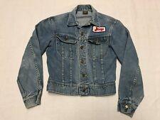 Vintage Lee Denim Jean Jacket Black Label Sanforized Women's Size Small (J14)