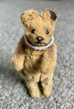 "RARE ANTIQUE Circa 1910 STEIFF MINIATURE Warm Brown BEAR 3"" FF Long f Button"