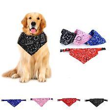 Adjustable Pet Dog collar Puppy Cat Neck Scarf Pet Dog Bandana BLACK Newly DECOR