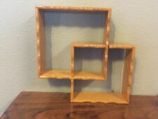 Vintage Wooden Shadow Box Curio Shelves, Interlocking