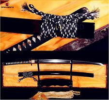 Japanese Samurai Katana Clay Tempered T10 High Carbon Steel Battle Sharp Sword