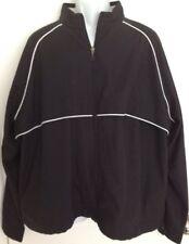 Ashworth Ladies Zip Front Golf Jacket Wind & Water Resistant Blk/Wht Sz 3 XL NWT