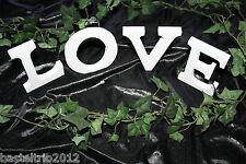 3D Holz Buchstaben Schriftzug LOVE Aufsteller weiß Deko Tischdeko Wanddeko 11cm