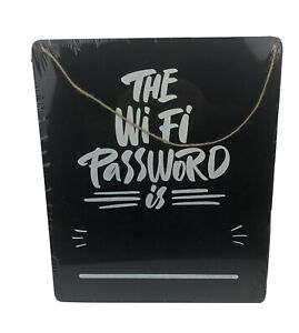 The WiFi Password is Sign Hanging Board Chalkboard Store Office Rental AirBnB