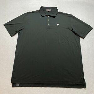 Peter Millar Summer Comfort Polo Shirt Size 2XL Black Athletic Golfing Collared