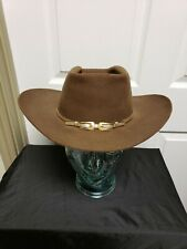 Resistol X Double X Cowboy Hat 7 Brown Gold Buckle Hat Band Rockabilly Faded