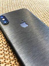 Apple iPhone X iPhone 10 Full Body Decal Skin by Avantelle - Brushed Gunmetal