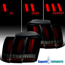 For 1999-2004 Ford Mustang Smoke LED Sequential Red Tube Tail Brake Lights Lamps
