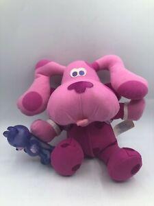 Blues Clues Fisher Price 2000 Mattel Bedtime Magenta Plush Stuffed Toy Animal