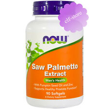 Now Foods, Saw Palmetto Extract, With Pumpkin Seed Oil and Zinc, 160 mg, 90 gels