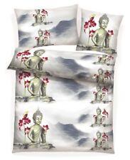 8 tlg Buddha Microfaser Fleece Winter Bettwäsche 135x200 Flausch Spannbettlaken