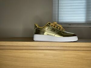 Air Force 1 One Gold Liquid Metal sz. 7 Lab Nike Jordan Air Max