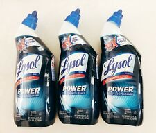 3 bottles - LYSOL POWER Toilet Bowl Cleaner - 24 oz each - 10X Cleaning Power