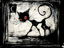 A Gothic Cat Red Eyes Women T-Shirt Tee S M L XL 2XL