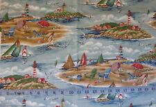 "Beach Scene Fabric Piece - 44"" by 76"""