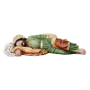 Statua di San Giuseppe dormiente in resina piena 20 cm