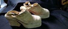 Vintage 1970'S Authentic Platform Shoes Size 40 L@K