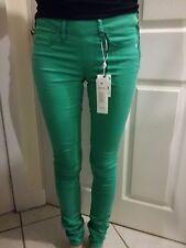BNWT G STAR 3301 JADE GREEN SUPER SKINNY LEG JEANS SIZE  25W 34L RRP £109 TALL