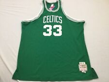 M6 New MITCHELL NESS Boston Celtics Larry Bird Sewn Green Jersey MEN'S 60