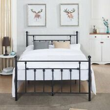 Premium Full Size Bed Frame Metal Platform Mattress Foundation/Box Spring Cama