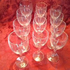 LUIGI BORMIOLI CRYSTAL CLEAR set of 12,  four each white, red, water glasses
