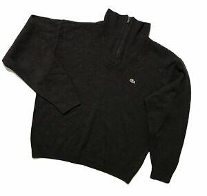 Men`s Lacoste 1/4 zip sweater Jumper Size 4 medium